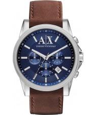 Armani Exchange AX2501 メンズブルーブラウンクロノグラフドレスウォッチ