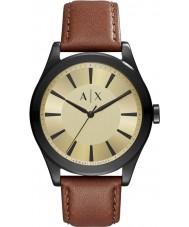 Armani Exchange AX2329 メンズダークブラウンレザーストラップの腕時計をNICO