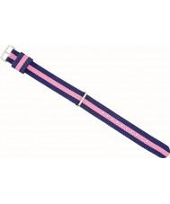 Daniel Wellington DW00200081 レディース上品なウィンチェスターの23ミリメートルは、ゴールド、ピンクとネイビーブルーのナイロンスペアストラップをバラ