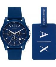 Armani Exchange AX7107 メンズスポーツ時計ギフトセット