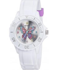 Tikkers TK0052 女の子白いキラキラ蝶の腕時計