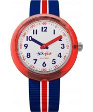 Flik Flak FPNP026 ボーイズレッドバンド時計