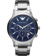 Emporio Armani AR2448 メンズ古典的なクロノグラフ青銀の腕時計