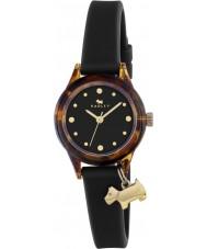 Radley RY2324 女性はそれを見て!金のハイライトと黒のストラップの時計