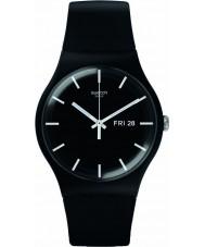 Swatch SUOB720 新しい紳士 - モノ黒の時計