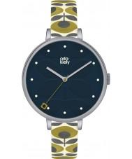 Orla Kiely OK2135 レディースツタクリームレザーストラップの腕時計