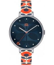Orla Kiely OK2137 レディースツタクリームレザーストラップの腕時計