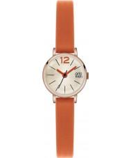 Orla Kiely OK2024 レディースフランキーオレンジレザーストラップの腕時計