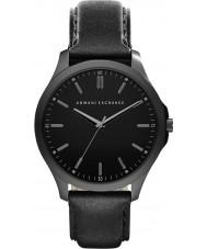 Armani Exchange AX2148 メンズドレスブラックレザーストラップの腕時計