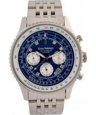 Krug-Baumen 600304DSA メンズエアトラベラーダイヤモンド自動腕時計